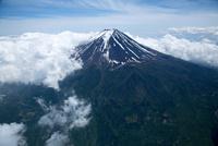 富士山と雲(3,800m)