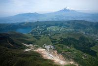 大涌谷の水蒸気爆発現場周辺より富士山