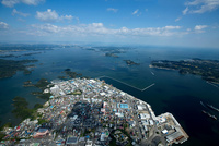 東釜石,双観山より松島と松島湾
