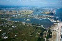 鳥の海(荒浜港)周辺と阿武隈川河口
