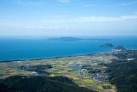 津屋崎古墳群(新原・奴山古墳群)より大島と玄界灘 25397014275| 写真素材・ストックフォト・画像・イラスト素材|アマナイメージズ