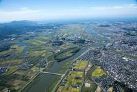 遠賀川(福岡下大隈より河口方面)