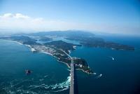 大鳴門橋と鳴門の渦潮(鳴門海峡)より鳴門公園,孫崎方面