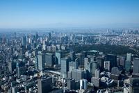 東京駅周辺より富士山,新宿方面