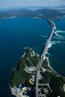 鳴門公園,孫崎周辺より鳴門の渦潮(鳴門海峡)と大鳴門橋