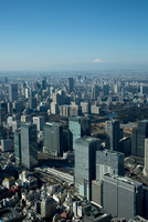 東京駅周辺より富士山