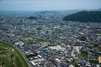 徳島郊外の北田宮周辺より徳島市街地