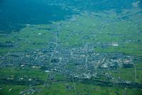 喜多方の街並み(会津盆地)