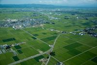 津軽平野(木造駅と木造の街並み周辺)