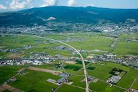 北海道新幹線と大野国道(千代田地区)函館平野