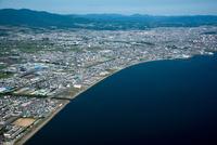函館湾と函館平野(東久根別,七重浜周辺)