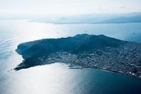 函館山(陸繋島)より函館湾方面