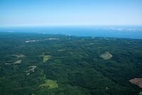 洋野町周辺の丘と太平洋