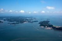 松島湾と松島の島々(桂島,浦戸野々島周辺)日本三景