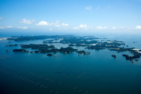 松島湾と松島の島々(大森島,浦戸野々島周辺)日本三景