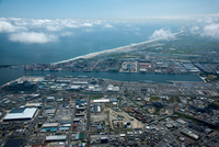 仙台塩釜港周辺より宮城野区の海岸