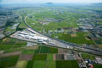 函館新幹線総合車両所(函館総合車両基地)北海道新幹線周辺より函館平野
