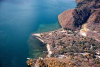 紅葉の中禅寺湖畔と湯川河口,菖蒲ヶ浜周辺