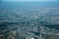大高周辺より名古屋市街地方面(伊勢湾自動車道と名古屋高速3号大高線,名古屋南JCT周辺)