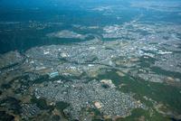 名張市街地と名張駅周辺(手前百合丘住宅地)