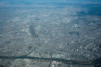 春日井市街地(愛知県営名古屋空港)小牧市全景周辺(3,000m)