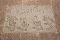 Sciedamsedijk 通りのボンジョビの手形