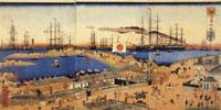 横浜海岸風景