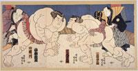 相撲 国貞画