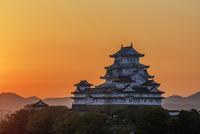 姫路城黎明  25488037512| 写真素材・ストックフォト・画像・イラスト素材|アマナイメージズ