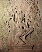 バイヨン寺院女神デウ゛ァター像 アンコール遺跡 25494000332| 写真素材・ストックフォト・画像・イラスト素材|アマナイメージズ