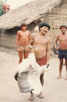 アラワテ族 大ワシと男
