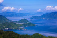 大三島 鷲ケ頭山より見た瀬戸内海 芸予諸島