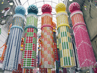 仙台七夕祭り 25516037558| 写真素材・ストックフォト・画像・イラスト素材|アマナイメージズ