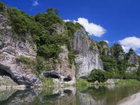 耶馬溪 競秀峰と青の洞門