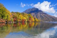 紅葉の八丁出島と中禅寺湖より男体山(日光富士) 25516046176| 写真素材・ストックフォト・画像・イラスト素材|アマナイメージズ