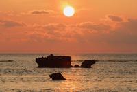 浜崎より夕日 波照間島