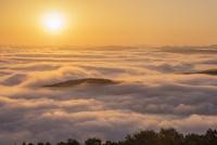 高谷山 霧の海展望台より雲海と山並みと朝日 25516049653| 写真素材・ストックフォト・画像・イラスト素材|アマナイメージズ