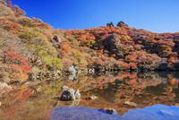 くじゅう連山 紅葉の大船山 御池 25516049704| 写真素材・ストックフォト・画像・イラスト素材|アマナイメージズ