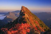 紅葉の石鎚山 弥山より夕映え天狗岳
