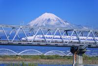 東海道新幹線 富士川橋梁と富士山 25516050060| 写真素材・ストックフォト・画像・イラスト素材|アマナイメージズ