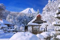 雪の鱒の家庭園より富士山 25516050112| 写真素材・ストックフォト・画像・イラスト素材|アマナイメージズ