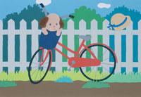 イヌと自転車 クラフト 25562000536| 写真素材・ストックフォト・画像・イラスト素材|アマナイメージズ