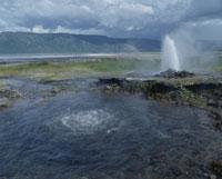 ボゴリア湖の温泉