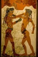 国立考古学博物館 ボクシングをする子供たち