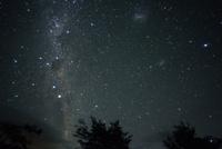 東の空に昇る南十字星とケンタウルス座