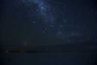 ウユニ塩湖に沈む大マゼラン星雲と竜骨座