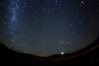 西の空に沈む南十字星,竜骨座,木星,しし座