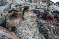 アーティスツパレットの風化した岩
