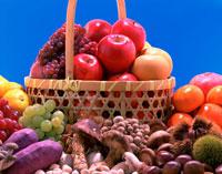 秋の果物と茸 25609003006| 写真素材・ストックフォト・画像・イラスト素材|アマナイメージズ