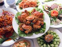 上海蟹 海鮮料理 25617000135| 写真素材・ストックフォト・画像・イラスト素材|アマナイメージズ